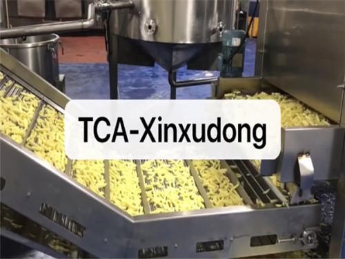 Automatic frozen potato chips making machine