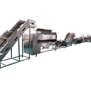 100kg/h frozen french fries production line