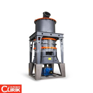 Three roller mill for making calcite powder