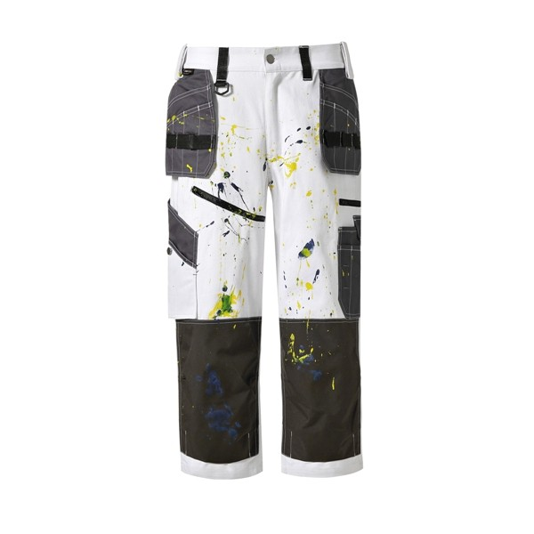 Cotton twill cropped trousers/pants