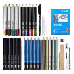 professional 72pcs Kit Sketch Pencils and Colored Pencils Art Set drawing pencil for artsist