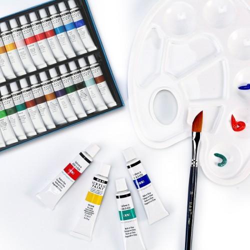 H&B 24 colors 12ml wholesale art acrylic paint set