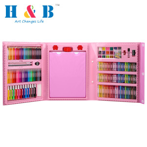 208pcs HB rainbow drawing art set for kids