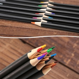 H&B 24pcs drawing colored pencils with  Pastel for  kid