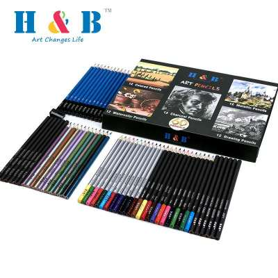 H&B 60 pcs color pencil set suppliers for adults