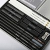 H&B woodless white charcoal drawing pencil set for artists
