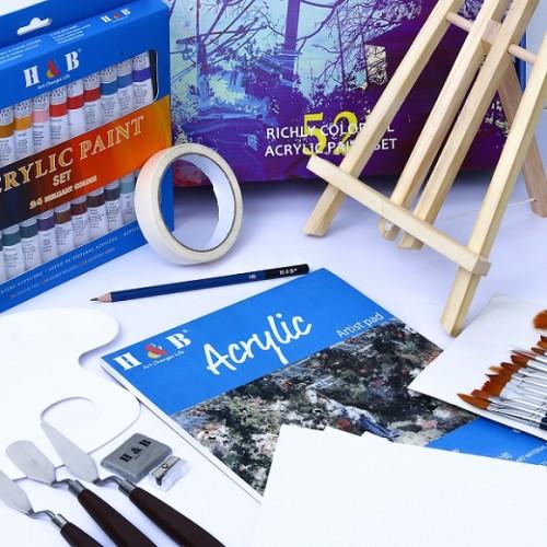 H&B non toxic 52 pieces wholesale art acrylic paint set