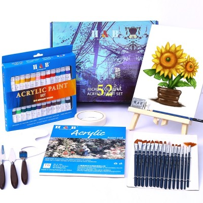 H&B non toxic 52 pieces wholesale art acrylic paint set