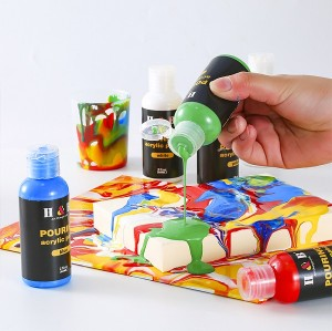 H&B DIY High-flow Bottled Water Based Acrylic Pouring Paint fo DIY