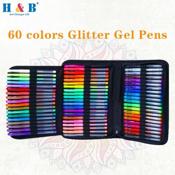 120pcs Multicolor Gel Pen Art Set