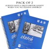 sketch drawing book for Artist Pro & Amateurs | Marker Art, Colored Pencil, Charcoal for Sketching