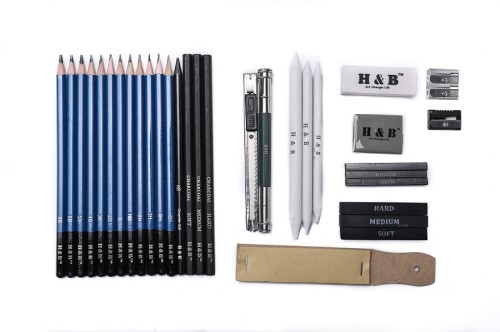 H & B 33 Sketching Pencils Set For Beginners