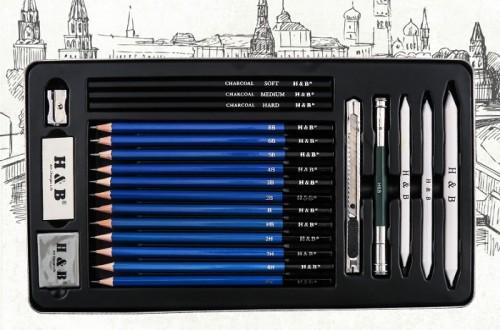 H & B iron box sketching kit 23
