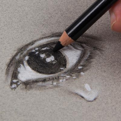H & B charcoal drawing set 15