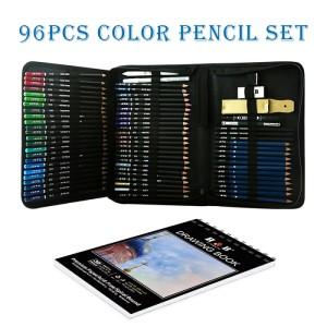 H & B 96 colored pencil kit