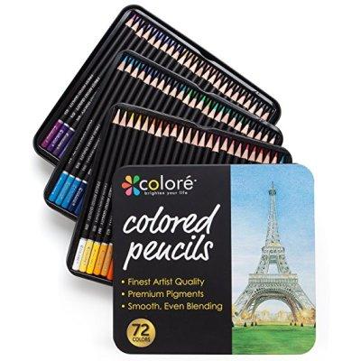 H & B 72 colored pencil set europe