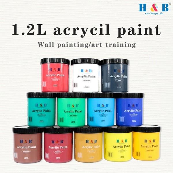 H & B 1200ML Professional Acrylic Paint