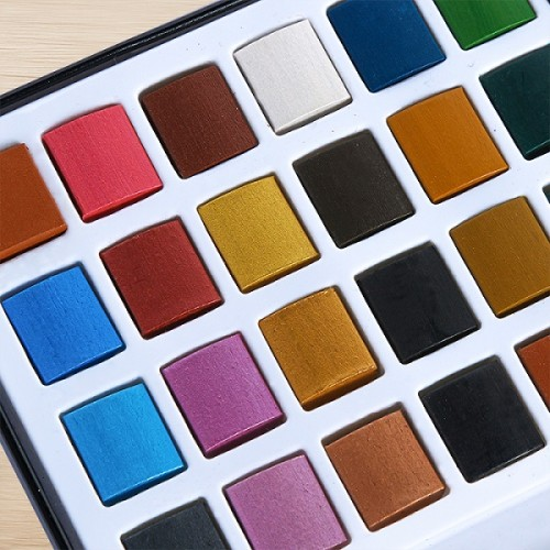H & B 56 professional solid watercolor paint set Mexico