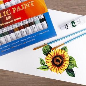 H & B 38 acrylic paint box set