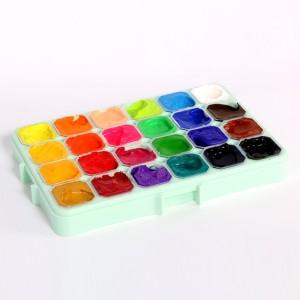 H & B 24 Colors Jelly Gouache Paint