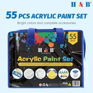 H & B Kid DIY 55pcs painting art stationery set