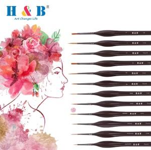 H & B 12 pcs nylon brush for paint