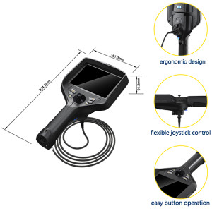 T51X Series 2.8mm Industrial Endoscope/ 4 Way Articulating Borescope/Joystick Videoscope