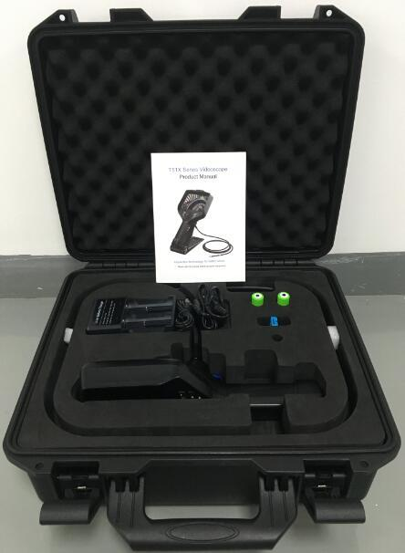 T51X Series Joystick Videoscope, 6mm Front View & Side View Lens  Borescope