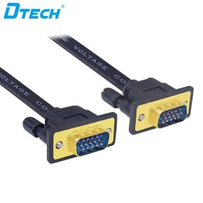 Support 4K@60Hz 3D VGA 3+6 Male to male Flat Cable