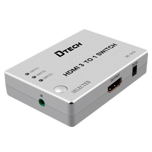 DTECH DT-7018 3 في 1 خارج HDMI التبديل دعم 1080p و 3D