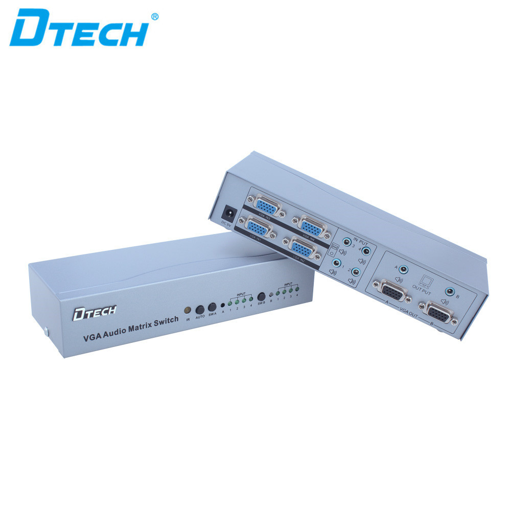 Dtech Switch Splitter IR Function VGA Matrix 4 * 2 1080p