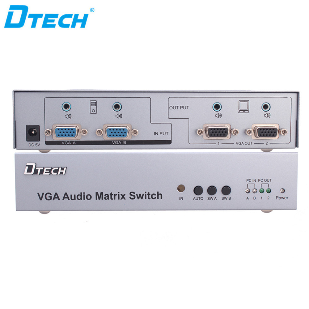 Dtech audio video VGA MATRIX 2x2