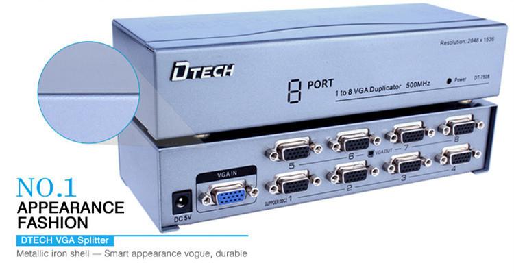 منافذ VGA الفاصل من 1 إلى 8 منافذ (500 ميجاهرتز)