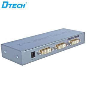 Power Supply DC 5V DVI Splitter 1 Input 2 Output