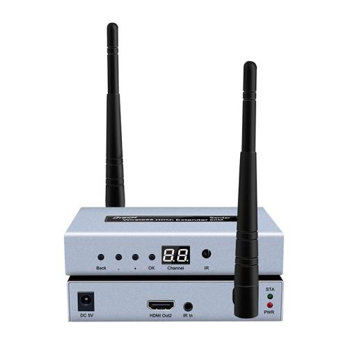 DT-7060 موسع HDMI لاسلكي 50 متر مع حلقة (1 إلى 4)