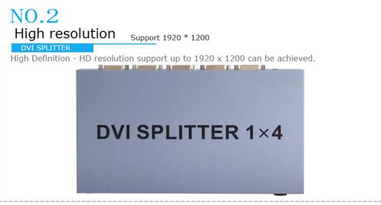 DVI Splitter 1 to 4 ports