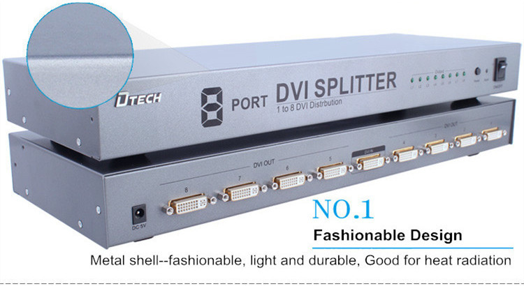 DVI Splitter 1 to 8 ports