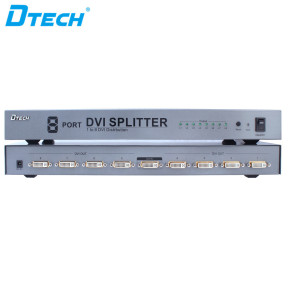 Metal Shell 1920x1080@60Hz DVI Splitter 1 to 8 Ports