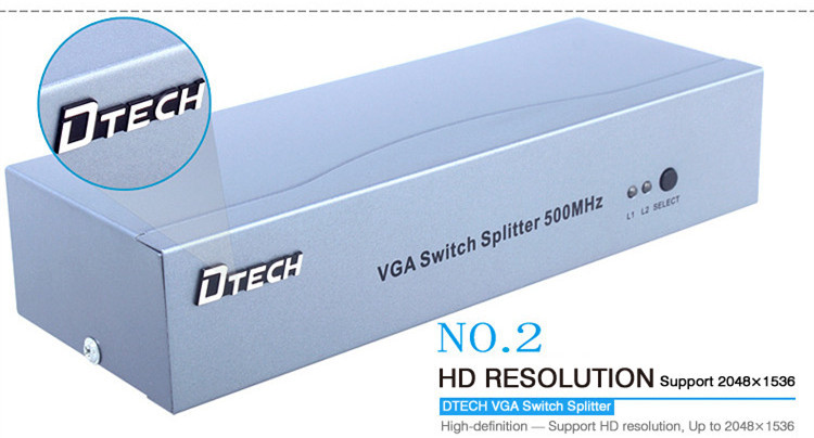 VGA Switch Splitter 2*4(500MHZ)