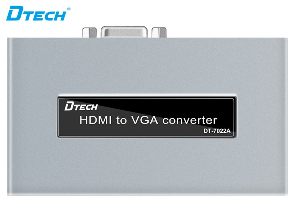 Dtech High Quality HDMI TO VGA Converter
