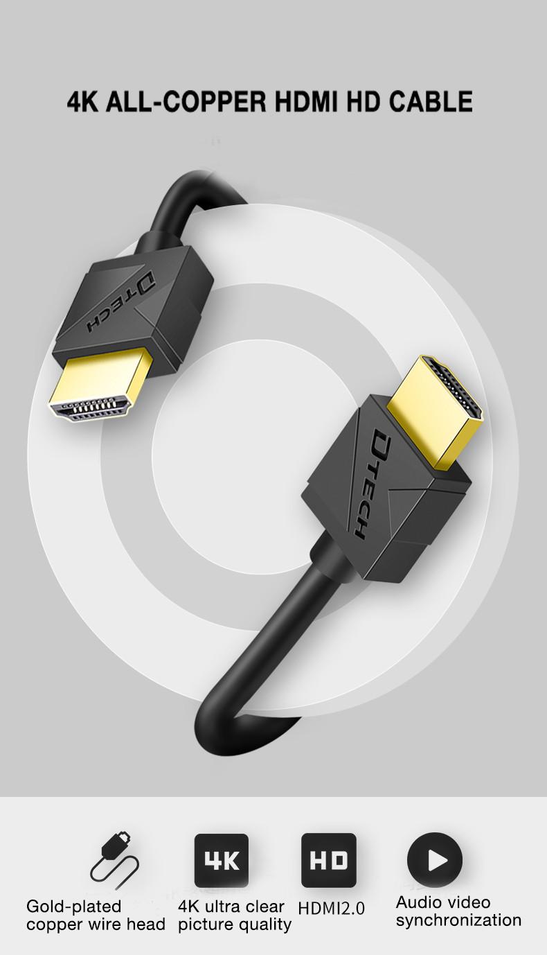 Dtech HDMI 2.0 copper silm  19+1 Cable