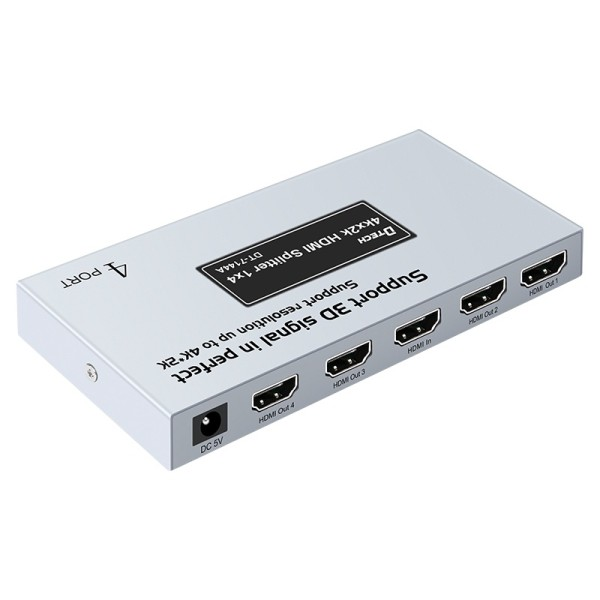 CCTV 4k 1080p 3D Audio Video Wall Distributor Amplifier 4 Ports Hdmi Splitter 1 Input 4 Output