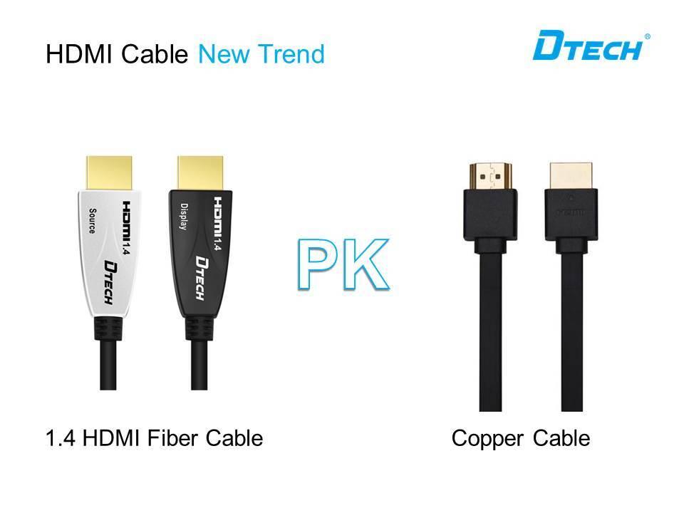 كابل ألياف HDMI مقابل كابل نحاسي