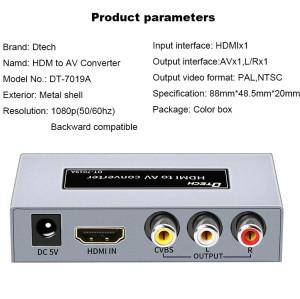 DT-7019A جودة عالية لتحويل AV إلى HDMI