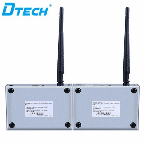 DT-7060 1080P من واحد إلى 4 ريسيفر موسع لاسلكي HDMI 50 م