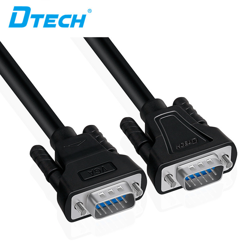 Dtech VGA 3+6  M/M HD CABLE (BLACK)