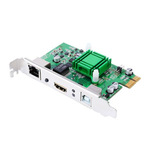 DT-7055 CAT5e / 6e كابل إيثرنت 1920x1080 60 هرتز 100 متر HDMI USB2.0 KVM موسع