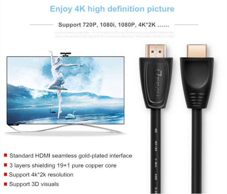 Cable HDMI 4K 1080p 3M
