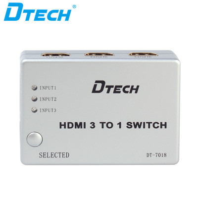 DTECH DT-7018 Support 250MHz/2.5Gbps 1080P HDMI SWITCH 3x1