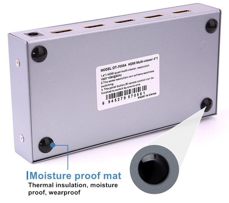 DTECH DT-7056A HDMI Switch 4X1 Quad Multi-viewer